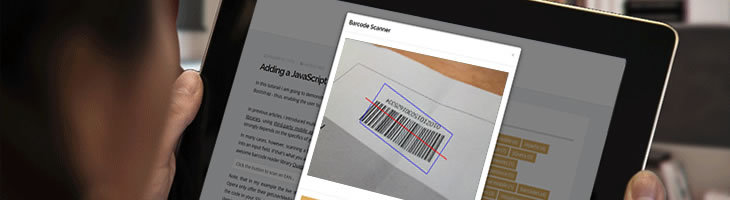 A JavaScript barcode reader with Bootstrap and QuaggaJS