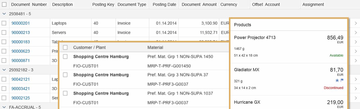 SAP UI5 data tables compared: sap m Table vs  sap ui table Table