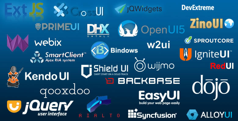 Web UI frameworks in 2016: jQuery UI, Zino UI, jEasyUI and jQWidgets compared